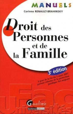 Droit des personnes et de la famille. 3e édition - gualino - 9782297010412 -