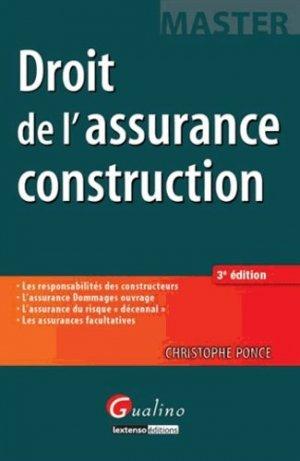 Droit de l'assurance construction - gualino - 9782297032445 -