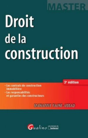 Droit de la construction - gualino - 9782297047340 -