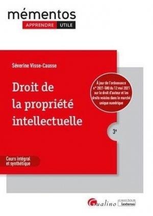 Droit de la propriété intellectuelle - gualino - 9782297091220 -