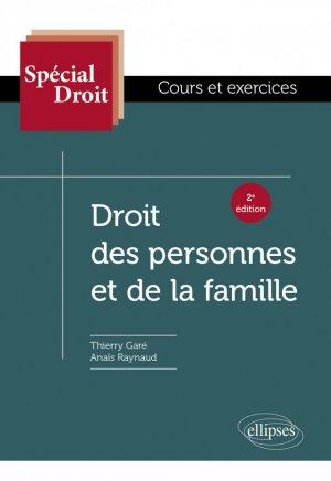 Droit des personnes et de la famille - ellipses - 9782340027305 -