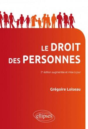 Droit des personnes - 2e édition mise à jour et augmentée - Ellipses - 9782340038097 -