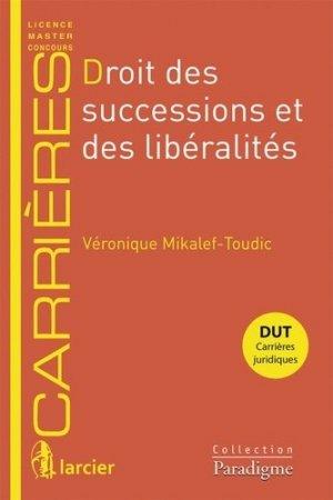 Droit des successions et des libéralités - Bruylant - 9782390130369 -