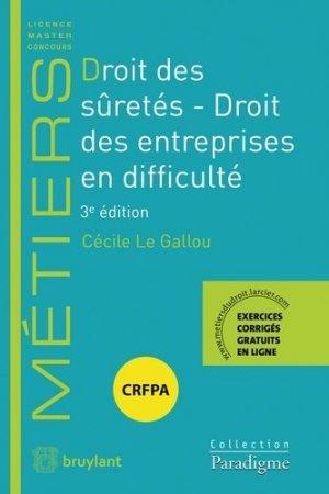 Droit des sûretés. 3e édition - Bruylant - 9782390131427 -