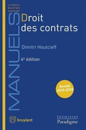 Droit des contrats. 4e édition - Bruylant - 9782390131915 -