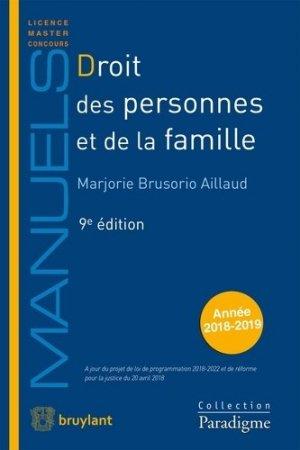 Droit des personnes et de la famille. Edition 2018-2019 - Bruylant - 9782390132172 -