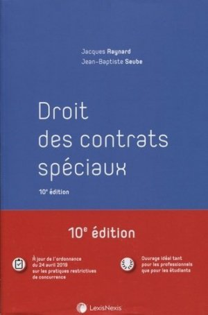 Droit des contrats spéciaux. 10e édition - lexis nexis (ex litec) - 9782711031573 -