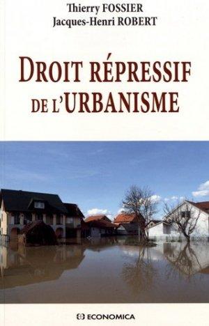 Droit répressif de l'urbanisme - economica anthropos - 9782717869729