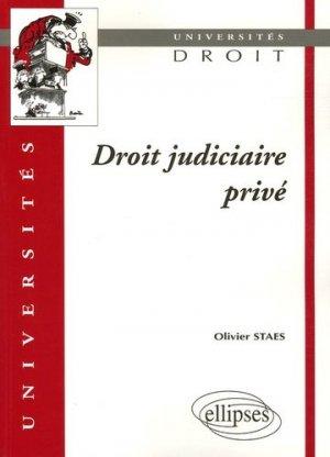 Droit judiciaire privé - Ellipses - 9782729824853 -