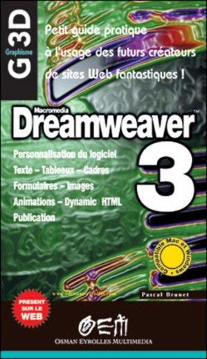 Dreamweaver 3 - osman eyrolles multimedia - 9782746401433 -