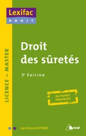 Droit des sûretés. 3e édition - Bréal - 9782749533520 -