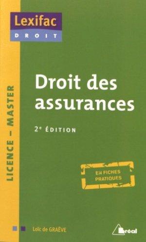 Droit des assurances. 2e édition - Bréal - 9782749534701 -