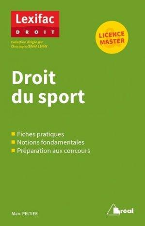 Droit du sport - Bréal - 9782749538402 -