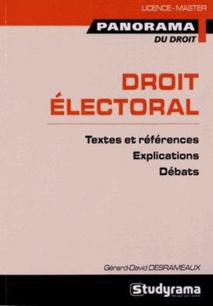 Droit électoral - Studyrama - 9782759018826 -