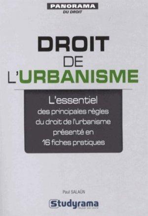 Droit de l'urbanisme - studyrama - 9782759020256 -