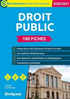 Droit public. 100 fiches, Edition 2020-2021 - Studyrama - 9782759044238 -