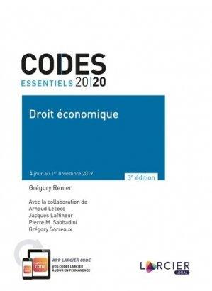 Droit économique. Edition 2020 - Éditions Larcier - 9782807916586 -