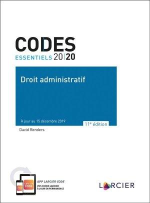 Droit administratif. A jour au 15 décembre 2019, Edition 2020 - Éditions Larcier - 9782807919457 -