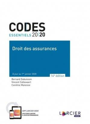 Droit des assurances. Edition 2020 - Éditions Larcier - 9782807919464 -