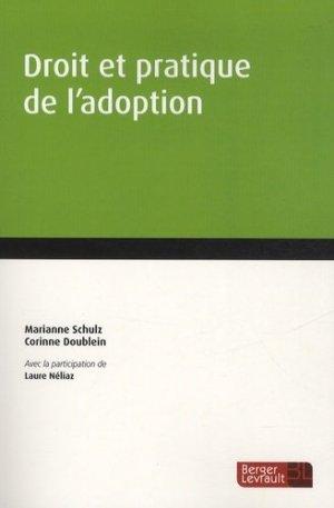Droit et pratique de l'adoption - berger levrault - 9782851302403 -