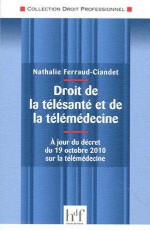 Droit de la télésanté et de la télémédecine - heures de france - 9782853853187 -