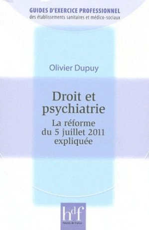 Droit et psychiatrie - heures de france - 9782853853231 -