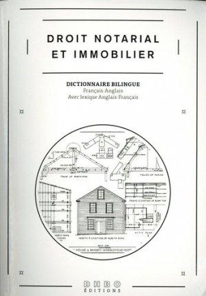 Droit notarial et immobilier. Edition bilingue français-anglais - DHBO Editions - 9789081559232 -