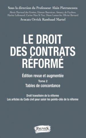 Droit des contrats réformé. 2 volumes, Edition revue et augmentée - fauves - 9791030202465 -