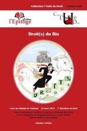 Droit(s) du bio - L'Epitoge - 9791092684322 -