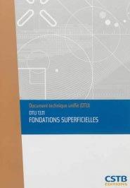 DTU 13.11 Fondations superficielles - cstb - 3260050850063 -