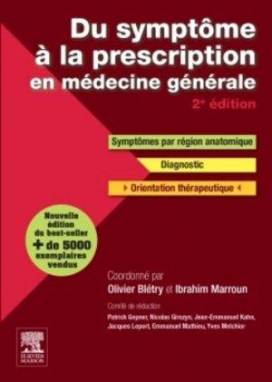 Du symptôme à la prescription en médecine générale - elsevier / masson - 9782294731587