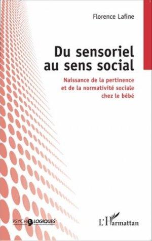 Du sensoriel au sens social - l'harmattan - 9782343056548 -