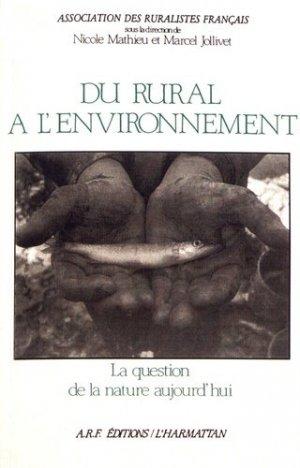 Du rural à l'environnement - l'harmattan - 9782738403704 -
