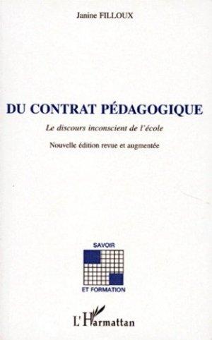 Du contrat pédagogique - l'harmattan - 9782738440730 -