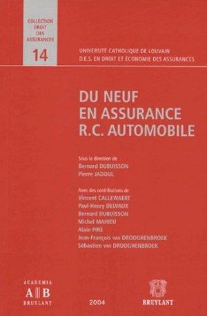 Du neuf en assurance RC Automobile - bruylant - 9782802719083 -