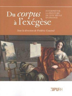 Du corpus à l'exégèse - presses universitaires de rouen et du havre - 9791024013145 -