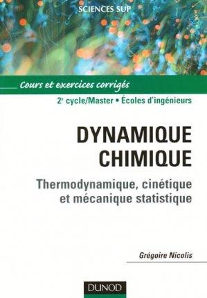 Dynamique chimique - dunod - 9782100487578 -