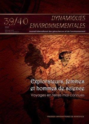 Dynamiques environnementales N° 39-40 - presses universitaires de bordeaux - 9791030002102 -
