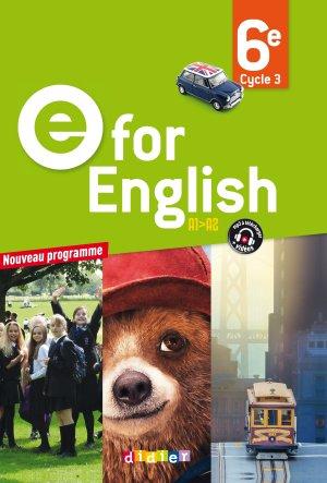 E for English 6e : Livre - Didier - 9782278083725 -