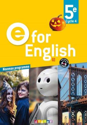 E for English 5e (éd. 2017) : Livre - Didier - 9782278087525