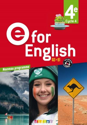 E for English 4e (éd. 2017) : Livre - Didier - 9782278087532 -
