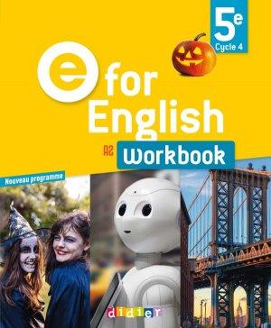 E for English 5e (éd.2017) : Workbook - Version Papier - Didier - 9782278088096 -