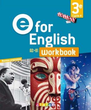 E for English 3e (éd. 2017) : Workbook - Version Papier - Didier - 9782278088119