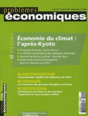 Économie du climat : l'aprés-Kyoto - la documentation francaise - 3303332029044 -