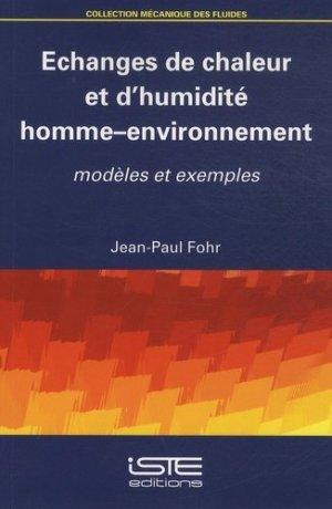 Echanges de chaleur et d'humidité homme-environnement - iste  - 9781784051099 -