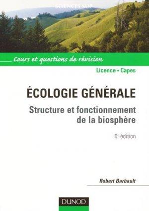 Écologie générale - dunod - 9782100519316 -