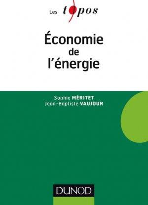 Economie de l'énergie - dunod - 9782100737932 -