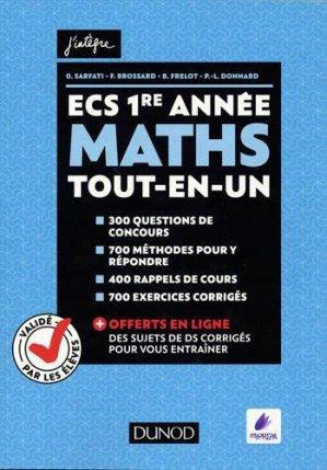 ECS 1re année - Maths - dunod - 9782100778751
