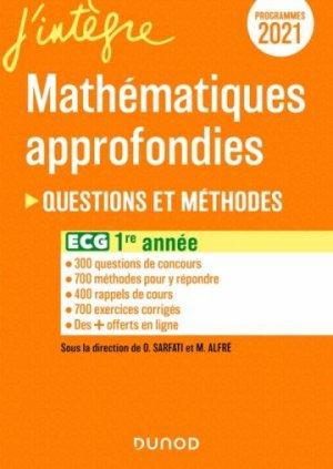 ECG 1 - Mathématiques approfondies - Dunod - 9782100826278 -