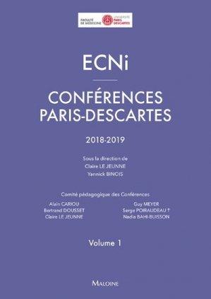 ECNi - Conférences Paris-Descartes 2018-2019 - maloine - 9782224036003 - livre médecine 2020, livres médicaux 2021, livres médicaux 2020, livre de médecine 2021